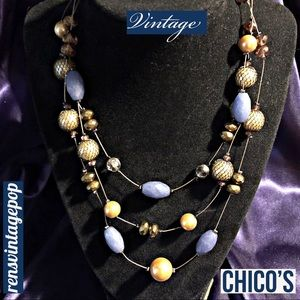 ☀️4/$25 Chico's invisible floating vtg necklace